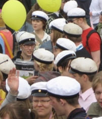 Studenten van verschillende pluimage. Je ziet er in Tornio zelden zoveel bij elkaar.