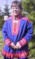 Een Samische jongen uit het Inari gebied