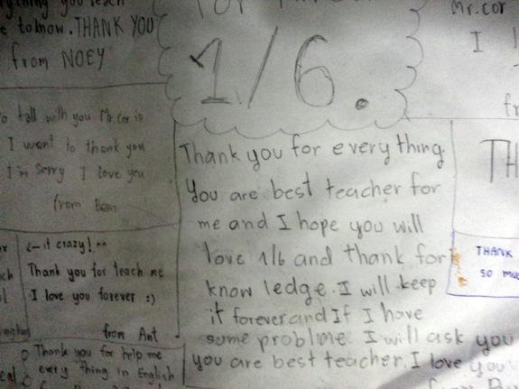 Liefdesbrief van hele klas