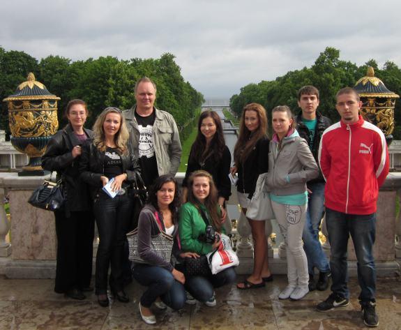 Het bordes van de Peterhof