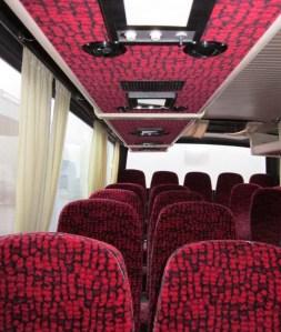 Interieur van een Finse schoolbus